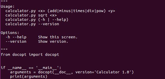 docopt_3 lenguaje de programación python