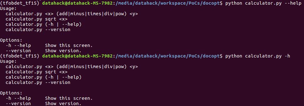 docopt_5 lenguaje de programación python