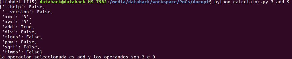 docopt_7 lenguaje de programación python