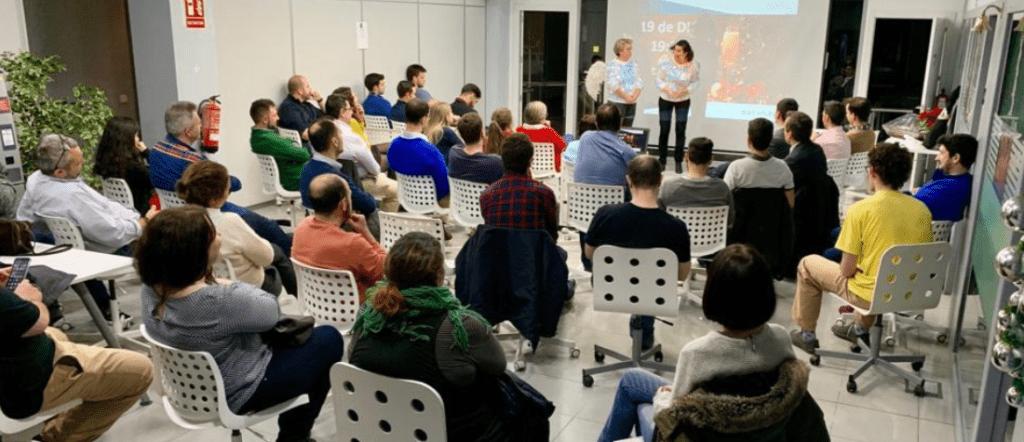 reunión antiguos alumnos de datahack en Madrid 2